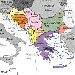 Cartina Fisica Europa Balcanica.Carta Geografica Europa Muta