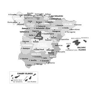 Cartina Della Spagna Geografica.Bats Web La Geografia Del Bats Spagna