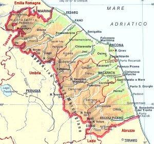 Cartina Emilia Marche.Bats Web La Geografia Del Bats Territorio Delle Marche