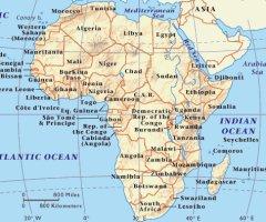 Cartina Dell Africa Fisica E Politica.Bats Web La Geografia Del Bats Africa