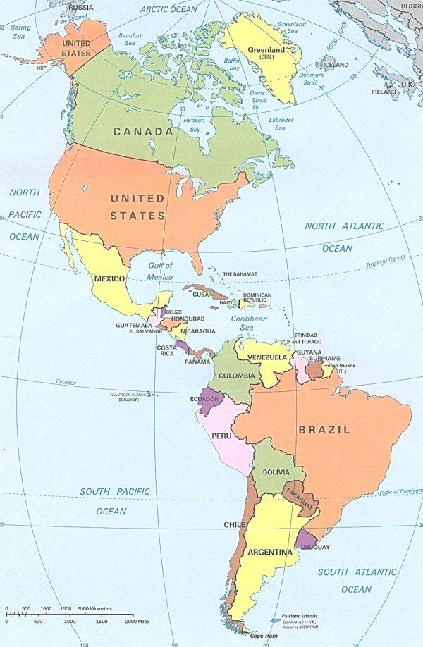 Cartina Geografica Centro America.Cartina America Koman Rsd7 Org