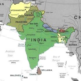 India Politica Cartina.Bats Web La Geografia Del Bats L India E La Regione Indiana