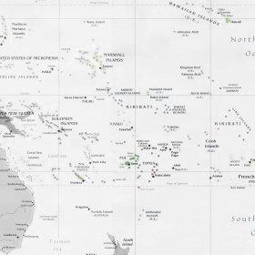 Cartina Oceano Pacifico.Bats Web La Geografia Del Bats Gli Arcipelaghi Del Pacifico