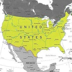 Cartina Usa Nord.Bats Web La Geografia Del Bats Stati Uniti D America